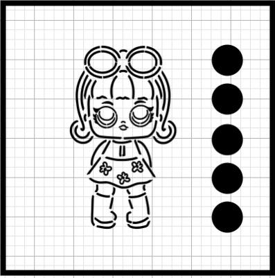 PYO (Paint your own) surprise meisje met zonnebril