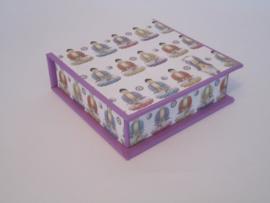 lila met boeddha papier