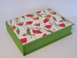 groen met tulpen papier