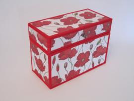 rood met klaprozen papier