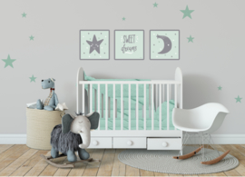Kinderkamer poster 3- Delig CANVAS set 'Sweet Dreams'