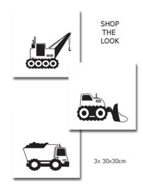 Kinderkamer poster Werk aan de Weg  - Zwart Wit