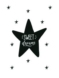 TextielPoster 'Sweet Dreams'