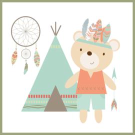 Kinderkamer poster 'Brave Bear' 3-delig