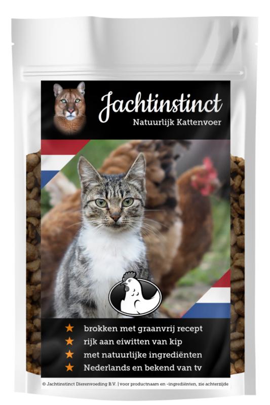 Jachtinstinct Dierenvoeding | Kattenbrokken Kip Graanvrij | 0% BTW