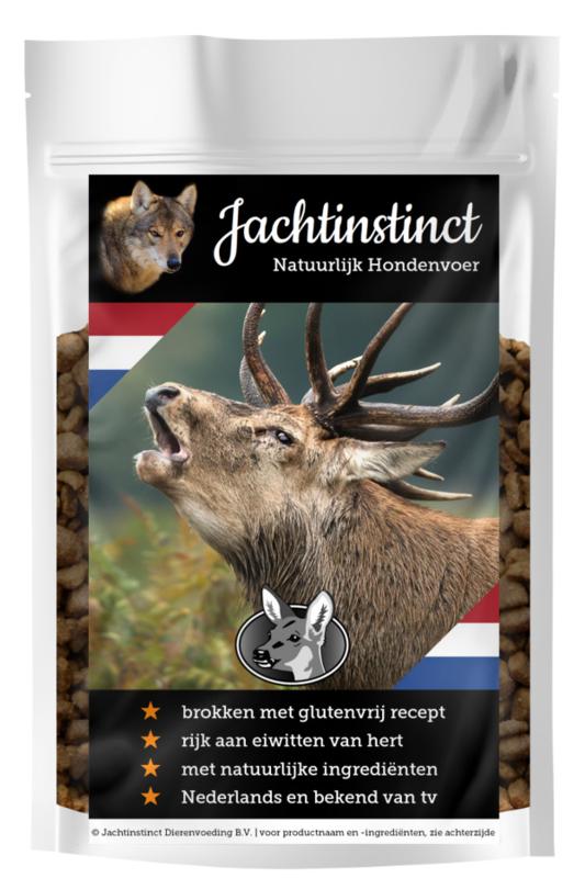 Jachtinstinct Dierenvoeding | Hondenbrokken Hert Glutenvrij
