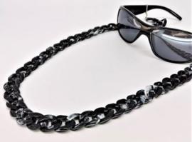 Acryl brillen ketting (zwart)