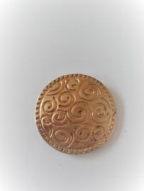 Magneet broche krullen goudkleurig