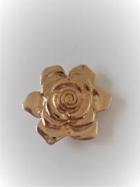 Magneet broche roos motief