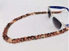 Acryl brillen ketting (bruin)