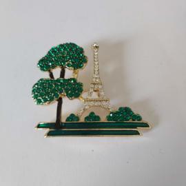 Groene broche (groen | eiffeltoren)