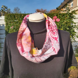 Tricot colsjaal  (roze | post)