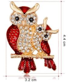 Rode broche (rood | vogel4)