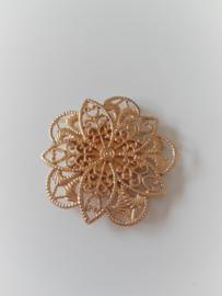 Goudkleurige magneet broche (goudkleurig | vijfhoekig)
