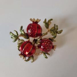 Rode broche (rood | Bloem2))
