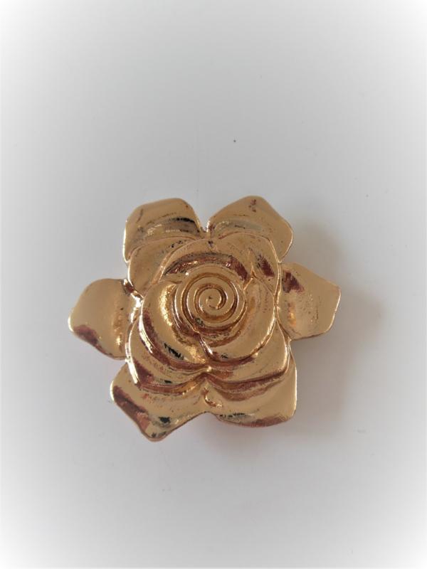 Goudkleurige magneet broche (goudkleurig | roos)