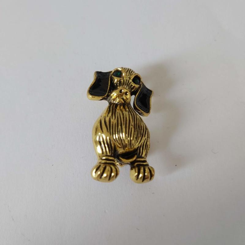 Goudkleurig broche (goudkleurig | Hond 1)