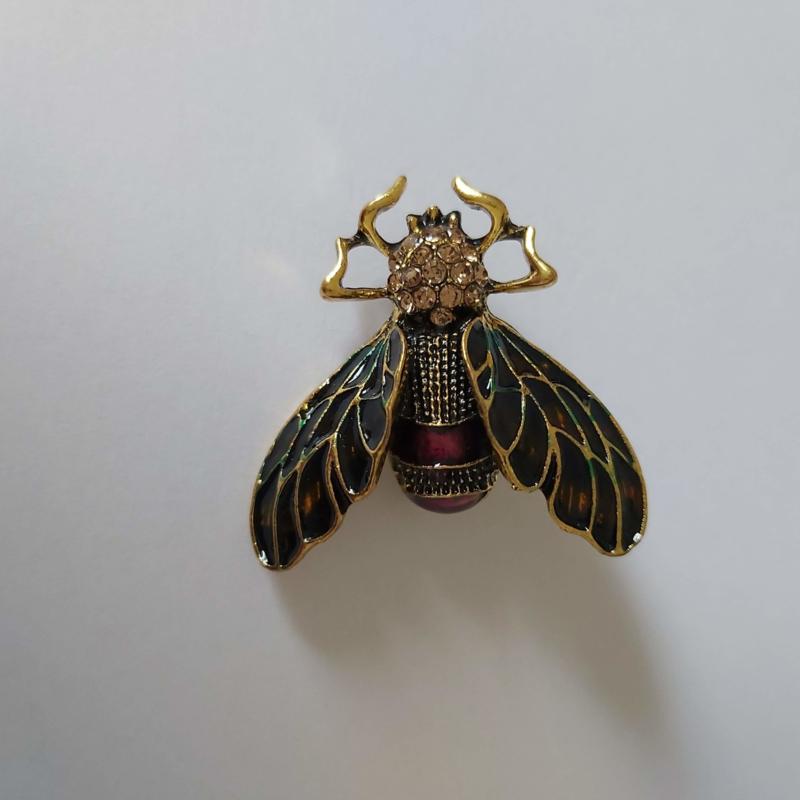 Kleuren combi broche (groen | insect 1)