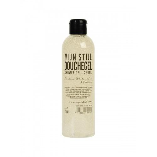 Mijn Stijl - Douchegel White Cedar & Vetiver 250 ml transparante fles