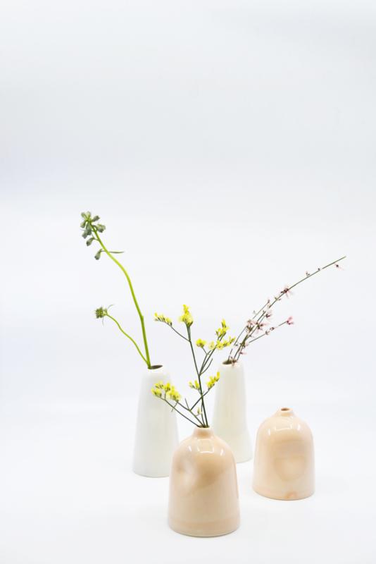 Kesemy Design - Reshaped vases, Mint glaze