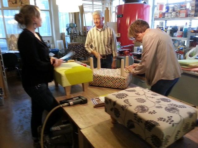 inschrijven workshop meubelstofferen