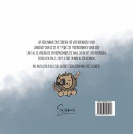 Mijn Vriendenboek Jongens - Hardcover Wire-O (Oud Blauw)