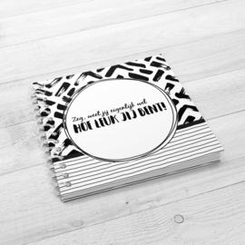 Jij bent mijn lieve schat - Hardcover Wire-o (Zwart/Wit)