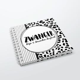 Mijn 9 maanden dagboek - Hardcover Wire-O (Zwart/Wit)