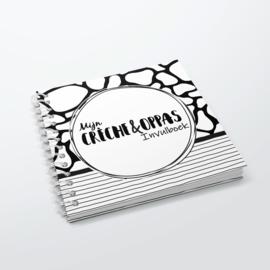 Mijn Oppas Invulboek - Hardcover Wire-O (Zwart/Wit)