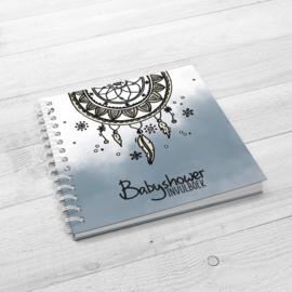 Het Babyshower Invulboek - Hardcover Wire-O (Oud Blauw)