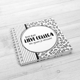 Bye Bye Lieve Collega Invulboek - Hardcover Wire-O (Zwart/Wit)