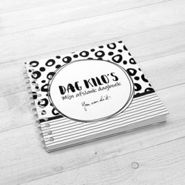 Mijn afslank Dagboek - Hardcover Wire-o (Zwart/Wit)