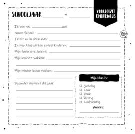 Het Schoolfoto Invulboek - Hardcover Wire-O (Zwart/Wit)