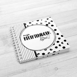 Mijn Receptenboek - Hardcover Wire-o (Zwart/Wit)