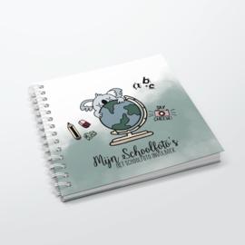 Het Schoolfoto Invulboek - Hardcover Wire-O (Oud Groen)