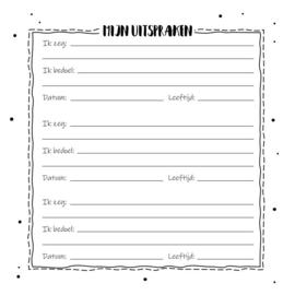 Mijn Brabbels en Uitspraken Invulboek - Hardcover Wire-O (Zwart/Wit)