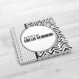 Jij bent mijn liefste vriendin - Hardcover Wire-o (Zwart/Wit)