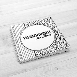 Het Vrijgezellenfeest Invulboek (Bride to Be) - Hardcover Wire-o (Zwart/Wit)