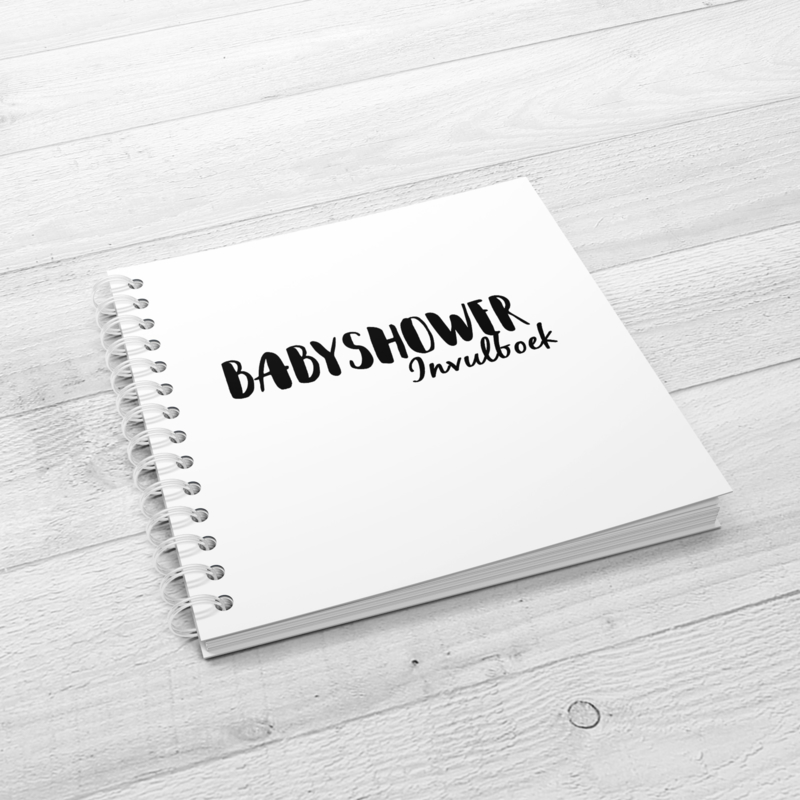Het Babyshower Invulboek - Hardcover Wire-O (Zwart/Wit)