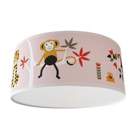 Roze plafondlamp kinderkamer   jungle