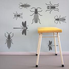 """Muurstickerset """"Insecten"""""""