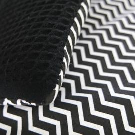 Speelkleed zwart wit   zigzag