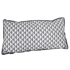 Kussen grijs | driehoek | 50 x 25 cm