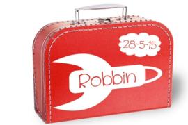 Koffertje met naam en geboortedatum | Raket