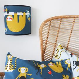 Wandlamp babykamer | jungle blauw - luiaard
