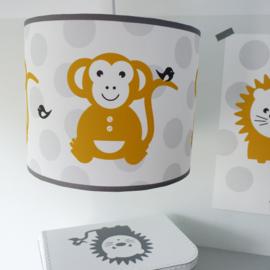 Lamp babykamer okergeel | Aap