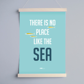 Poster babykamer blauw | no place like the sea