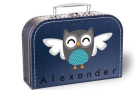 Koffertje uil (blauw)