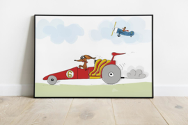 Kinderposter | Raceauto Wally
