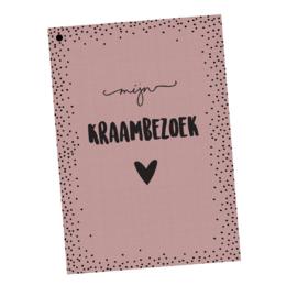 Kraambezoekboek | roze | 25 kaarten